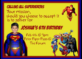 Invitation Card For 1st Birthday Superman Invitation Card Festival Tech Com