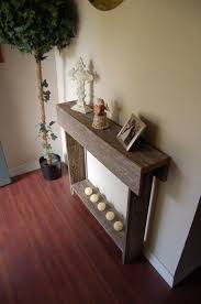 thin console table entry way table reclaimed cedar skinny wall