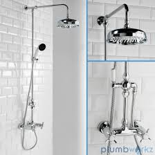 traditional bathroom mixer shower exposed round chrome rigid riser traditional bathroom mixer shower exposed round chrome rigid