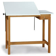 Split Level Drafting Table Smi Pacific Split Top Drafting Table With Storage Walmart