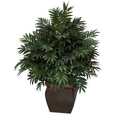 silk plants bamboo palm w decorative planter silk plant silk specialties