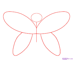 how to draw a simple butterfly step by step butterflies animals