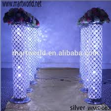 Pillars And Columns For Decorating 2017 New Bling Led Crystal Pillar For Wedding Aisle Decorations