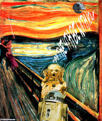 star wars characters scream painting pictures freaking