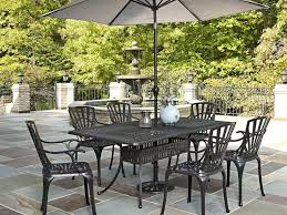 Swivel Patio Dining Chairs by Patio 46 Patio Dining Set With Umbrella And Brown Cushion