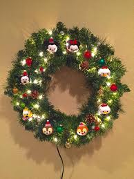 we made a tsum tsum christmas wreath tsumtsum