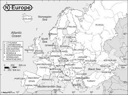 map erope europe black white reference map maps