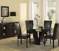 Dining Room Table Decor Ideas Modus Bossa 6 Piece Round Dining Room Set In Dark Homelegance