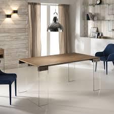 Table Extensible by Table Extensible Alfred Avec Plateau En Bois Et Pieds En Verre