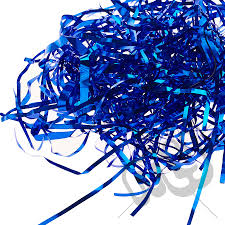 royal blue tissue paper royal blue foil shredded tissue paper 25 grams my carrier bag
