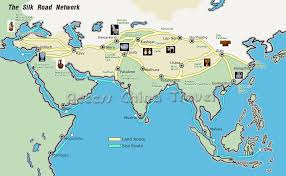 travel maps images The silk road china travel maps tourist map of silk road china jpg