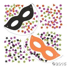 glitter halloween mask craft kit 12 pk party supplies canada