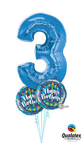 number balloons delivered 3rd birthday balloon bouquet delivery in portland or 503 285 0000