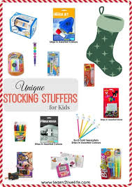 fun stocking stuffers unique stocking stuffers for kids learn 2 live life