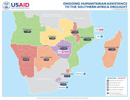 africa map malawi ongoing humanitarian assistance to the southern africa drought