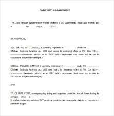 Joint Venture Agreement Template Pdf joint venture agreement template 13 free word pdf document