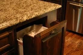 Kitchen Cabinet Trash Bin by Kitchen Island With Trash Can Gallery And Hidden Garbage Cabinet