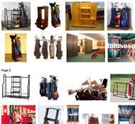 Garage Golf Bag Organizer - golf bag storage rack plans
