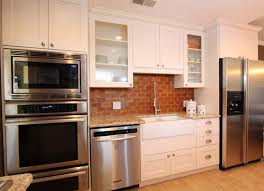 Kitchen  Modern Kitchen Design With Stunning Brick Backsplash - Wallpaper backsplash kitchen