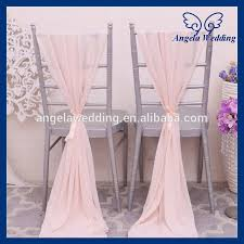 cheap chair sashes sh004e cheap fancy wedding blush pink chiffon chair sash