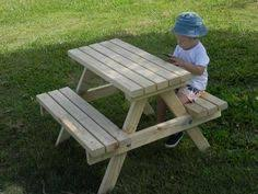 wooden childrens picnic table easy diy kid sized picnic table the kid friendly home little