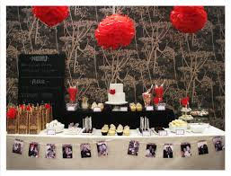 black white u0026 red dessert table i love the pictures along the
