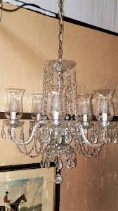 shade crystal chandelier etched hurricane shade crystal 5 arm chandelier rockwell