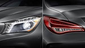 mercedes headlights pictures of the mercedes cla headlights bi xenons and intelligent