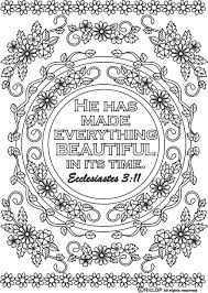 coloring page bible verse printable ecclesiastes by animadolce