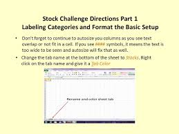 Challenge Directions Stock Challenge Directions Part 1 Labeling Categories And Format