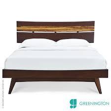 Modern Queen Platform Bed Azara Queen Platform Bed Greenington Metropolitandecor