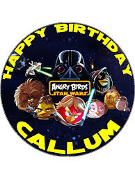 wars edible image 7 5 angry birds wars personalised edible icing or wafer paper