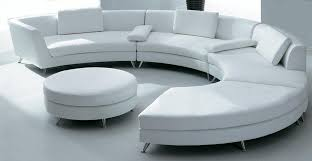 Round Sofa Chair Living Room Furniture White Circular Leather Sofa W Ottoman Sf03 Qty 4
