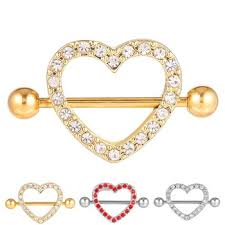 gold piercing rings images Custom made gold crystal heart shaped personalized girl indian jpg