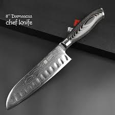 chef kitchen knives damascus steel knife set 5 black edition kitchen warrior
