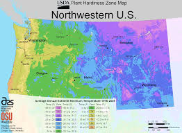 Time Zone Map Usa With Cities by North West Us Plant Hardiness Zone Map U2022 Mapsof Net