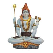 Statues For Home Decor by Lord Shiva Seated Full Color Hindu God Statue Buddhist Hindu Gods