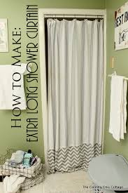make an extra long shower curtain listerinedesign the country