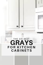 what wall color looks with grey cabinets the six best paint colors for gray kitchen cabinets