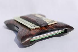 bench builtoak leaf wallet 5 card holder with money clip