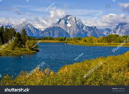 grand teton national park oxbow bend grand teton national park stock photo 18487936