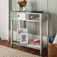 Hallway Accent Table Komirrored Console Table 2 Drawer Glam Vanity Mirror Sofa Accent
