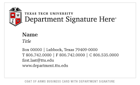 Business Cards And Headed Paper Texas Tech Identity Guidelines Texas Tech University Academic