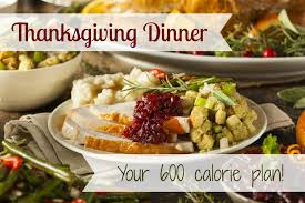 600 calories thanksgiving dinner plan vs the usual 3000 calorie