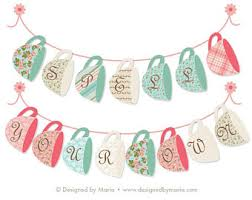 decorate your own tea cup teacup bunting etsy