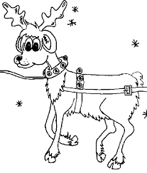 coloring christmas reindeer coloring pages 3