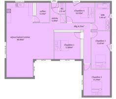 plan de maison 4 chambres avec age plan maison en u maison en u piscine plan 10 pièces 181 m2
