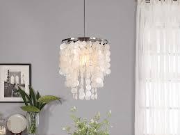 Capiz Shell Light Fixtures How To Make A Capiz Shell Chandelier Ebay