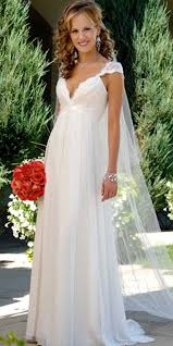 maternity wedding dresses chiffon v neck maternity wedding dress with cap sleeves bridal