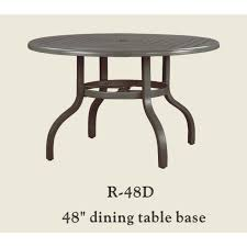 Patio Table Bases Patio Renaissance 48 Dining Table Base Only